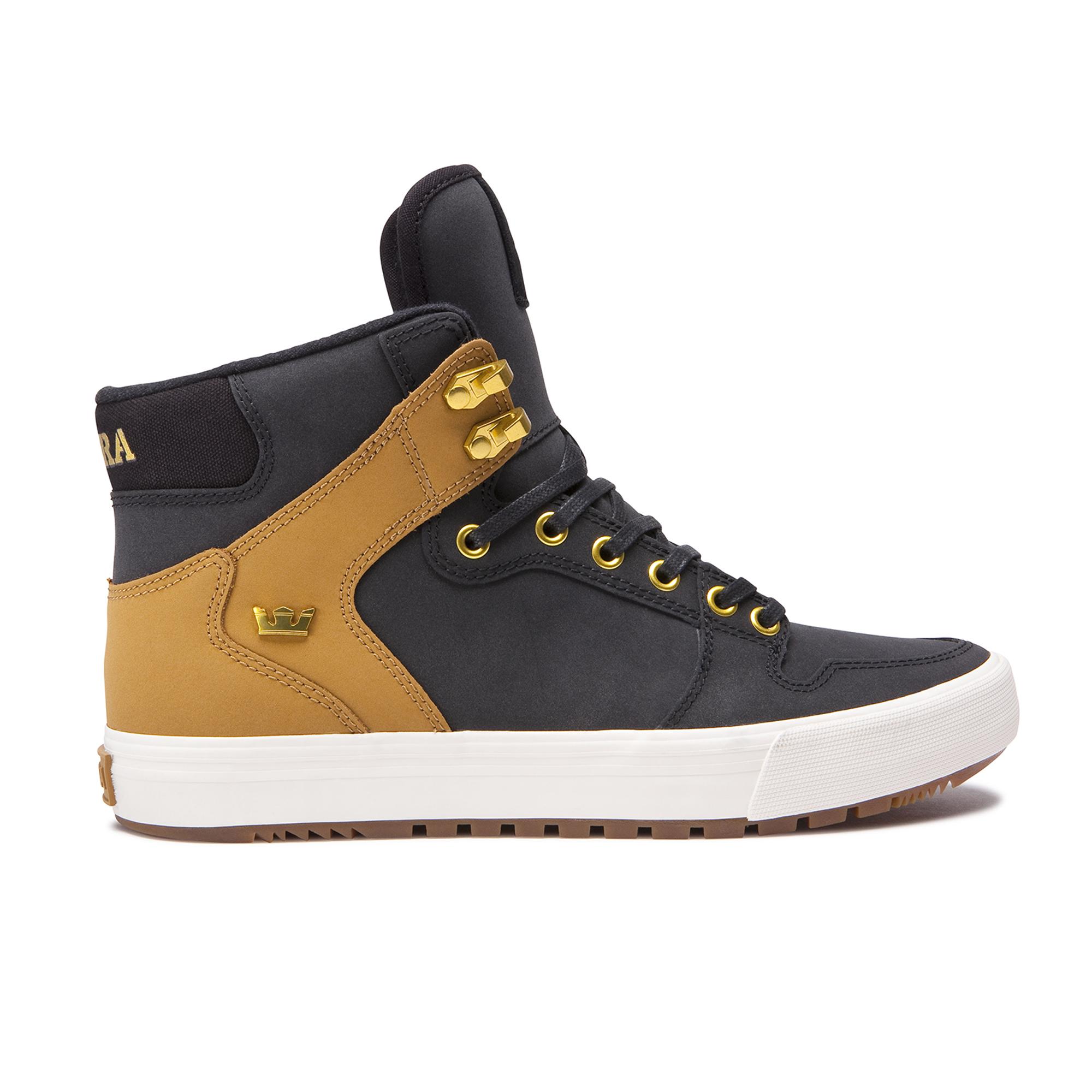 Supra Skateboard Shoes Vaider CW Black//Tan-Bone