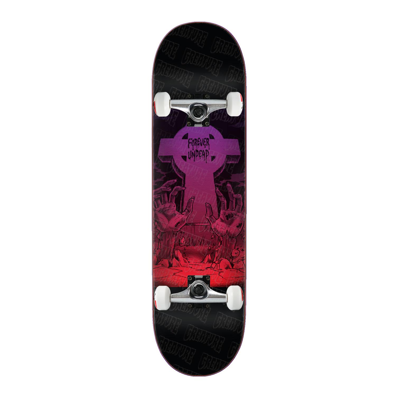 """Créature Skateboard complet Forever morts-vivants SM 8.3/"""" X 32.2/"""" BLK camions assemblés"""
