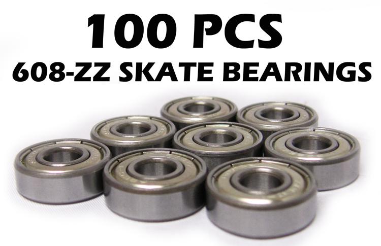 Lot of 100 in-line//Skate//Skateboard Ball Bearings 608ZZ