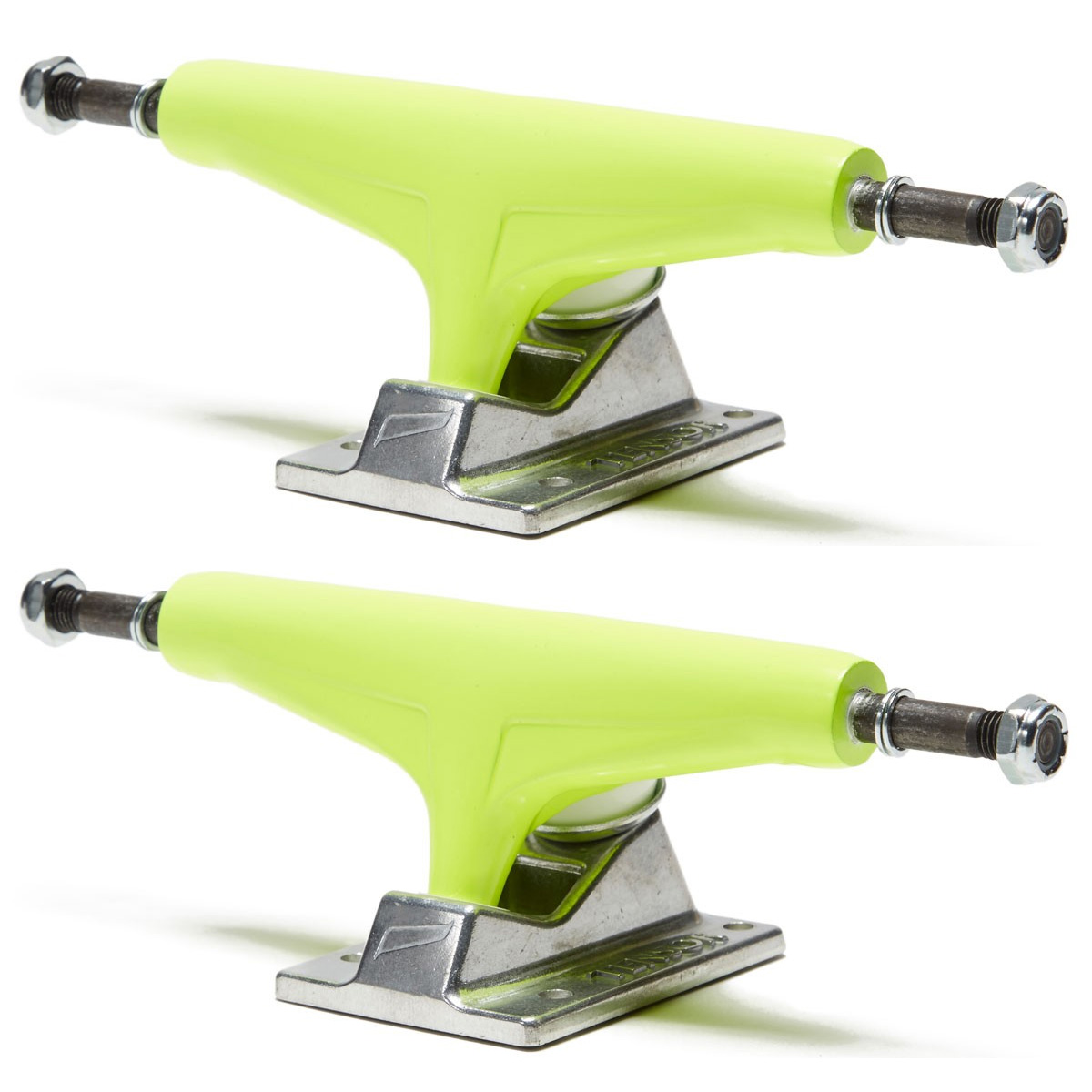 Tensor Skateboard Trucks 5.25 Aluminum Neon Yellow/Raw 8.0 ...