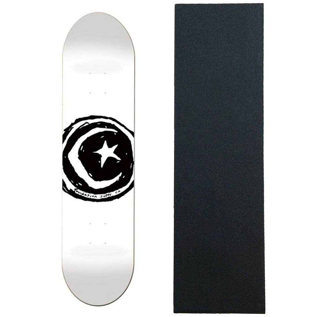 8.25 Foundation Star /& Moon Deck White