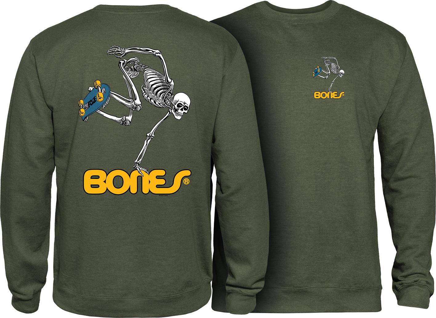 Powell Peralta Skateboard Crew Sweatshirt Skateboard Skeleton Army