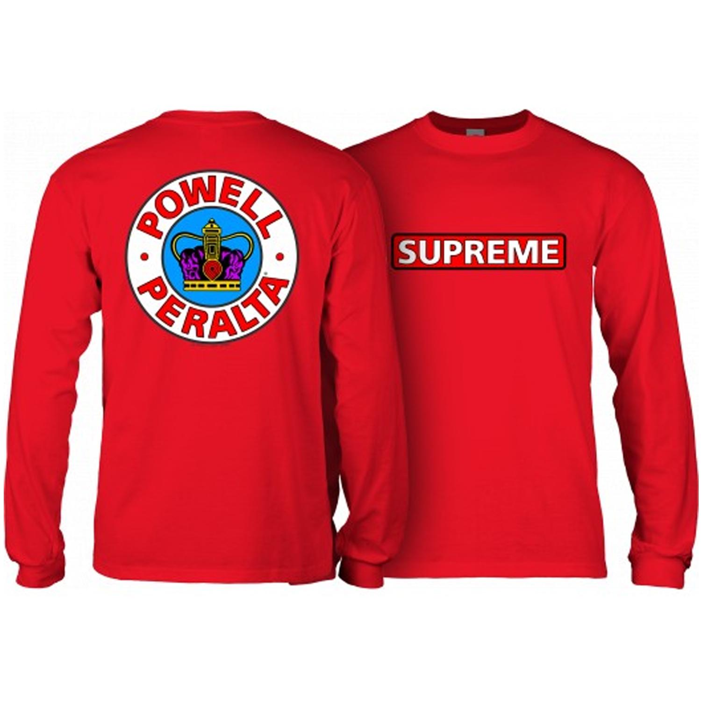 5b7aa7ad58d7 Powell Peralta Skateboard Long Sleeve Shirt Supreme Red