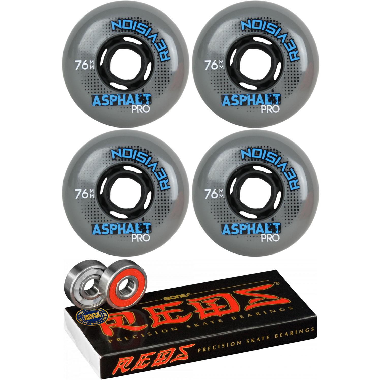 Revision Wheels Inline Roller Hockey Asphalt Pro 76mm 89A 8-Pack