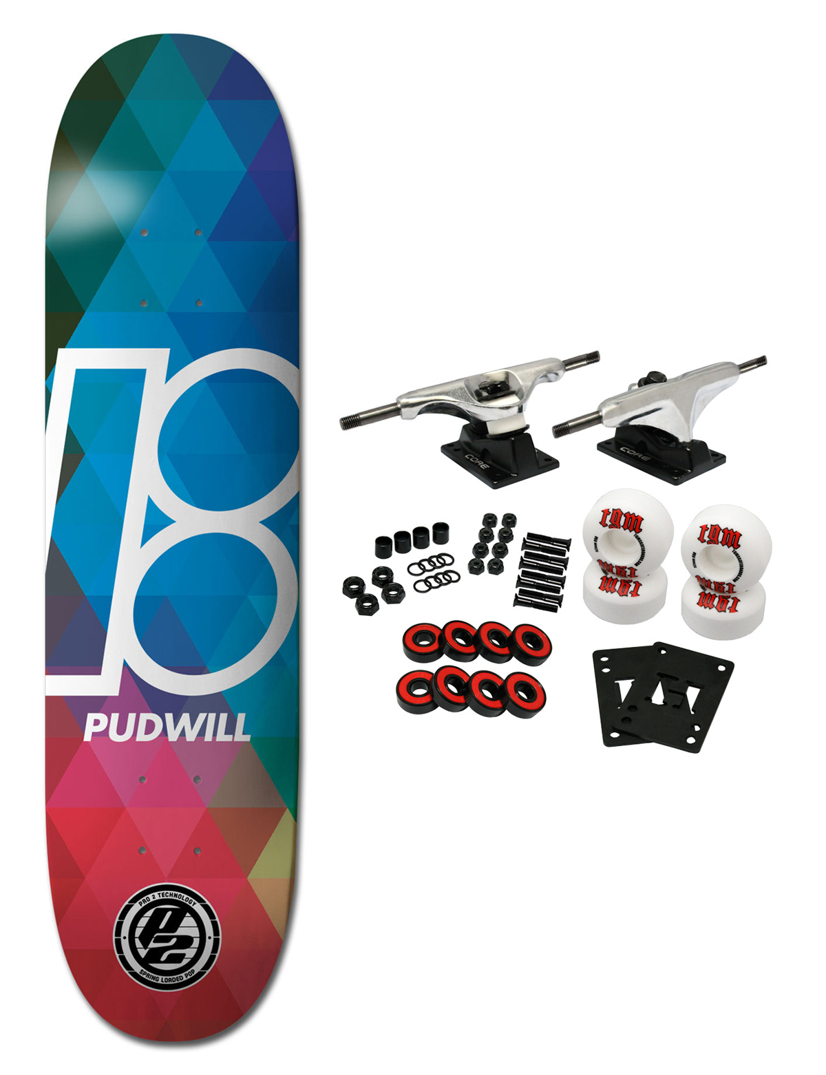 """PLAN B Skateboard Complete PUDWILL PRISM P2 8.0"""""""