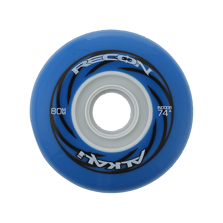 Alkali Inline Hockey Wheels 80mm RPD Quantum Indoor 74A Set of 8 with Bearings