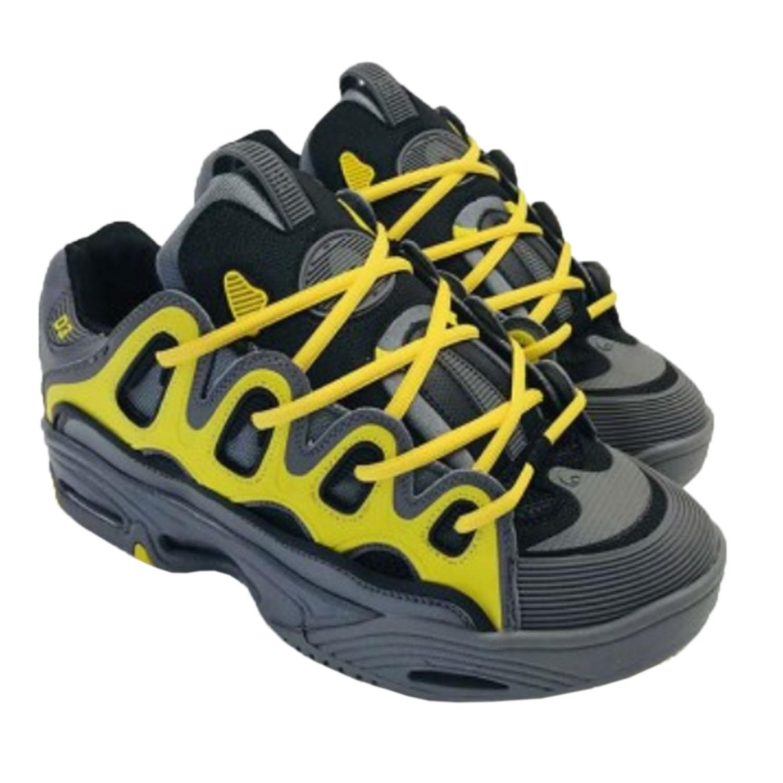 Osiris D3 2001 Shoes Charcoal//Yellow