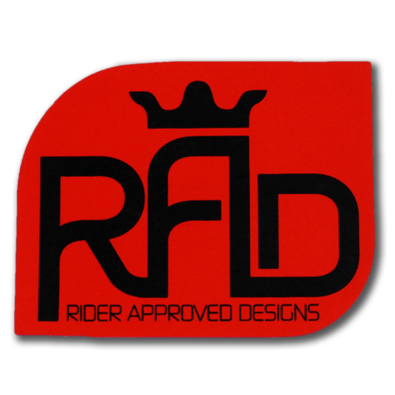 "RAD Logo Sticker Red 2.5/"""