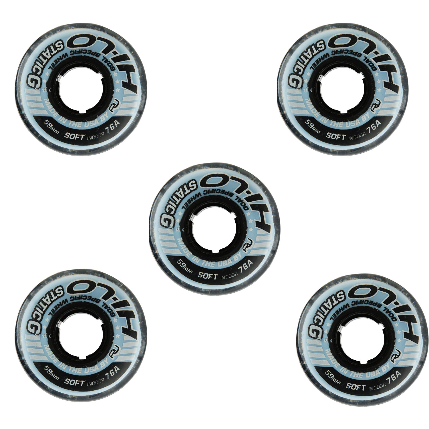 Revision Goalie Wheels Inline Roller Hockey Static 59mm 76a 5 Pack