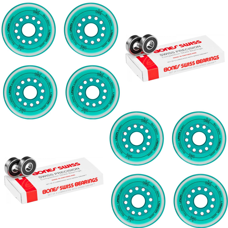 Labeda Wheels 80mm //76mm Hilo Set Union Teal Inline Indoor Roller Hockey