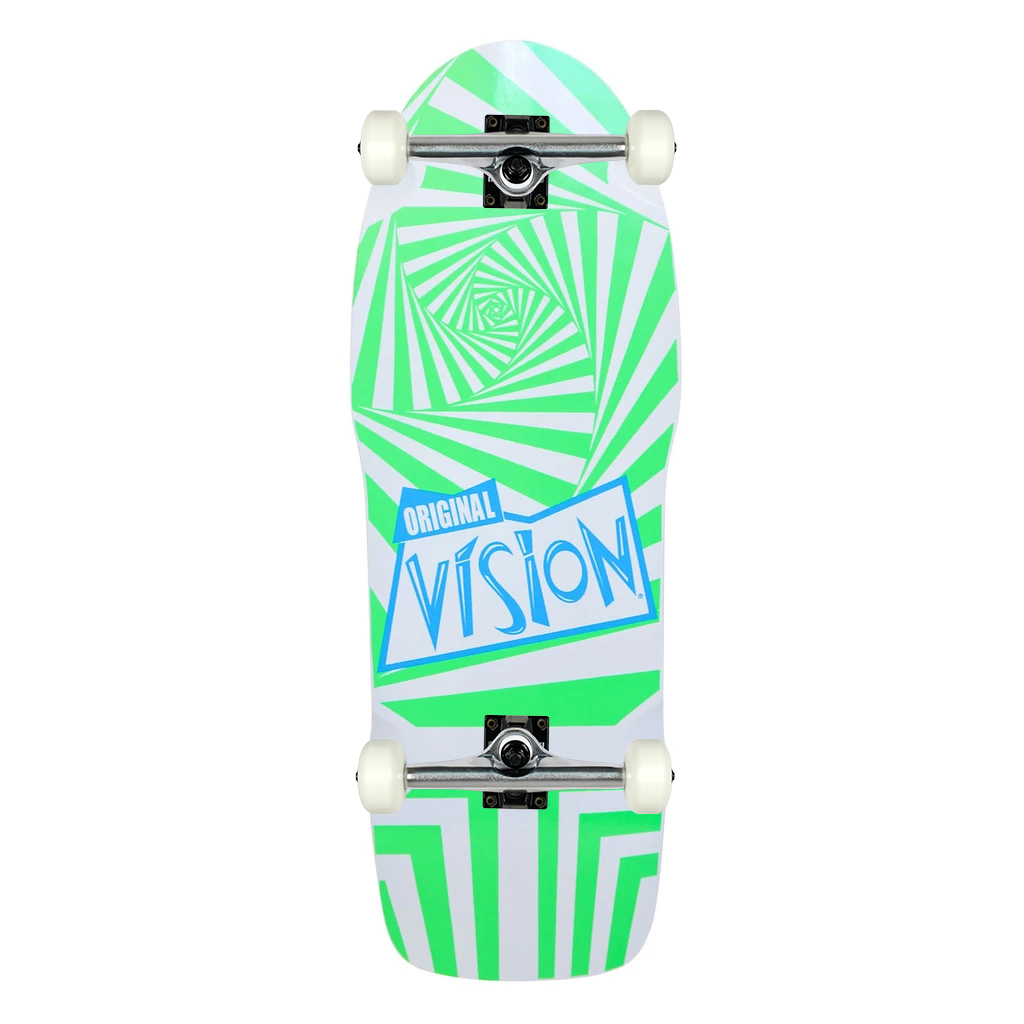 Details about Vision Skateboard Assembly Old School The Original  White/Green 10