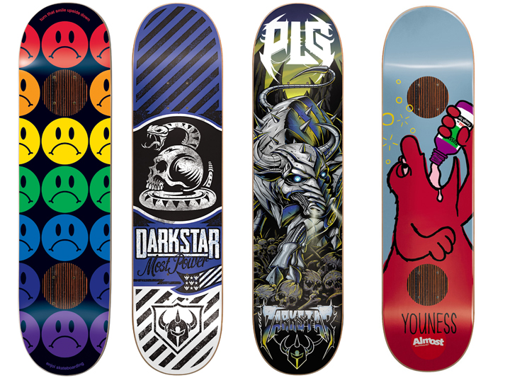 4 8in Skateboard Deck Bulk Lot Decks Almost Impact