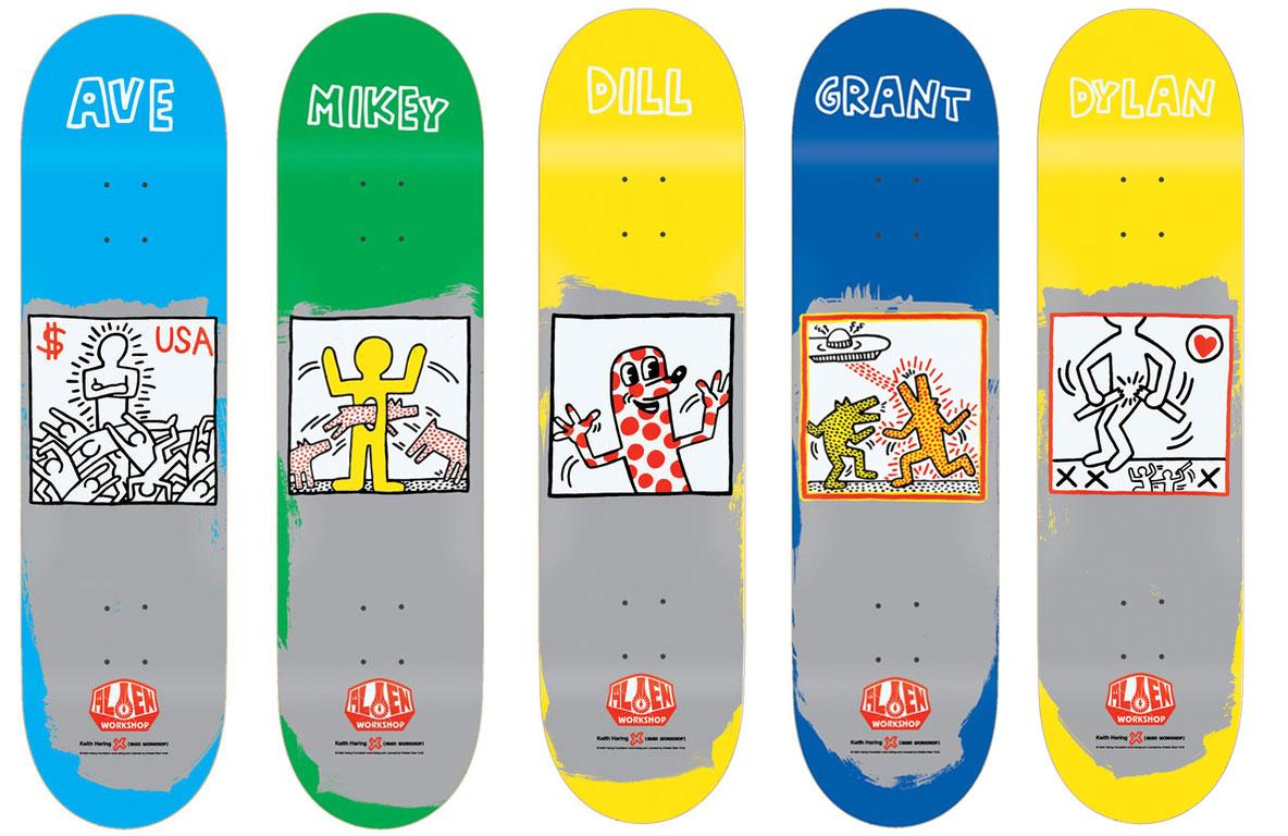 Alien Workshop Keith Haring Skateboard Deck Lot 5 2nd