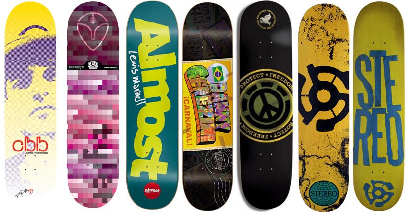 7 Skateboard Decks Deck Bulk Lot Alien Workshop Almost
