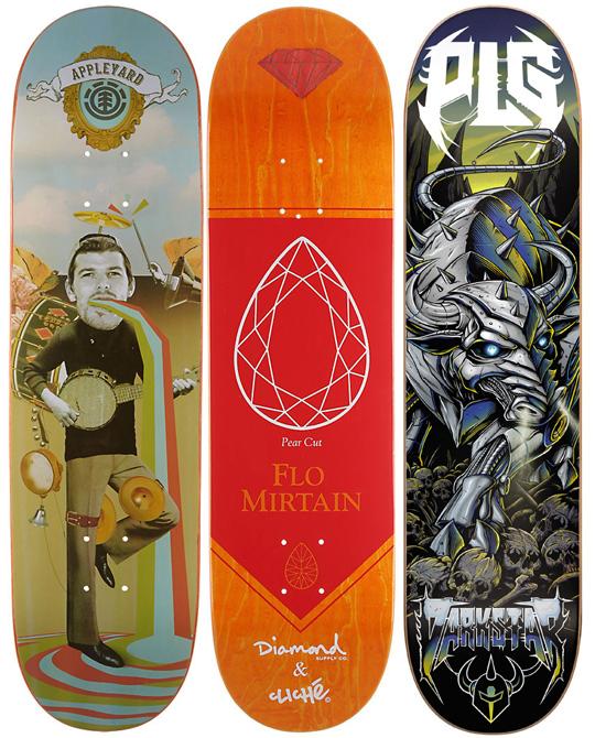 3 Skateboard Deck Decks Element Darkstar Cliche Bulk Lot 8