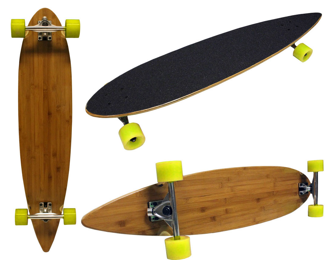 9x43 bamboo longboard cruiser 180mm aluminum trucks. Black Bedroom Furniture Sets. Home Design Ideas
