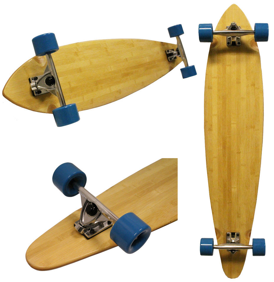 bamboo pintail longboard 9 75 x 46 cruiser skateboard 180. Black Bedroom Furniture Sets. Home Design Ideas