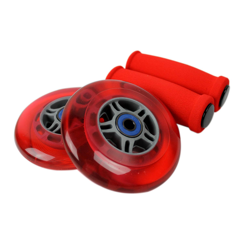 TGM Skateboards 4 Clear Wheels W//Abec7 Bearings for RAZOR SCOOTER 100mm DECK