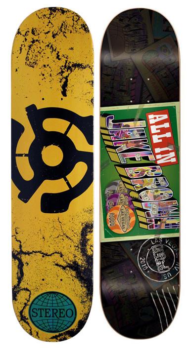 2 Pro Skateboard Decks 7 5 Stereo Blind Jake Brown Bulk